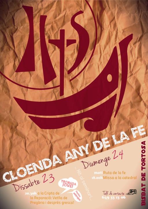 Cartell Cloenda Any de la Fe (petit)